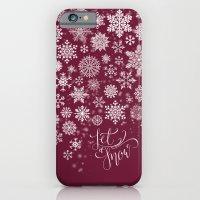 Let It Snow - Berry iPhone 6 Slim Case