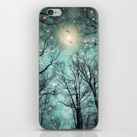 Nature Blazes Before Your Eyes (Mint Embers) iPhone & iPod Skin