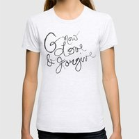 Grow, Love & Forgive Womens Fitted Tee Ash Grey SMALL