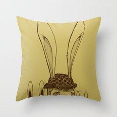 The Rabbit Man Throw Pillow
