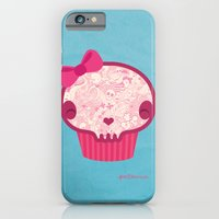 iPhone & iPod Case featuring Cupcake Skull by Piktorama
