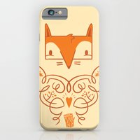 iPhone & iPod Case featuring Ornate Fox by jetpacks and rollerskates