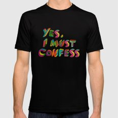 I must confess Mens Fitted Tee SMALL Black