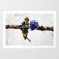 legend of zelda link snow figma Art Print