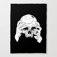 Skull In Hands Canvas Print