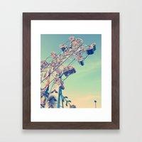 Zipper Framed Art Print