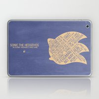 Sonic The Hedgehog Typog… Laptop & iPad Skin