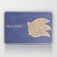 Sonic the Hedgehog Typography Laptop & iPad Skin