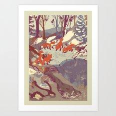 Fisher Fox Art Print