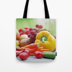 Fruits and Vegetables Variety in the kitchen Tote Bag