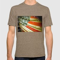 Flag of USA Mens Fitted Tee Tri-Coffee SMALL