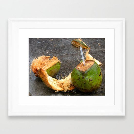 Lime in the Coconut Framed Art Print