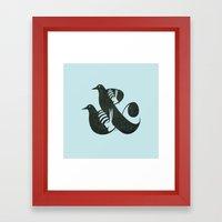 Birds & Bees Framed Art Print