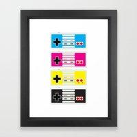 CMYK Retro Gamer  Framed Art Print