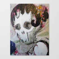 Day of the Dead Flamenco Dancer Portrait Canvas Print