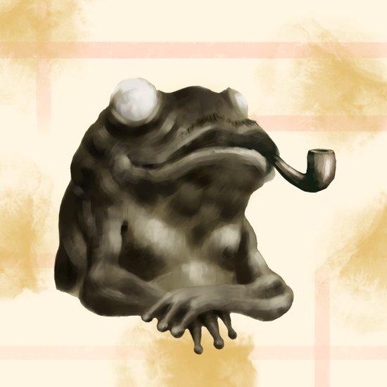 Gentleman Frog Art Print
