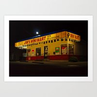 Art Print featuring Local convenience store by Vorona Photography