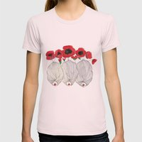 Poppy Girls Womens Fitted Tee Light Pink SMALL