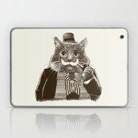 Mustache Cat Laptop & iPad Skin