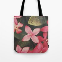 Magenta Flowers Tote Bag