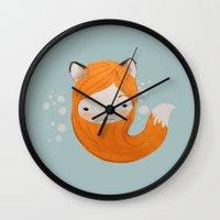Fox Girl Wall Clock