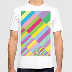 Stairs to Office  [COLORS] [COLOR] [COLORFUL]  Mens Fitted Tee SMALL White