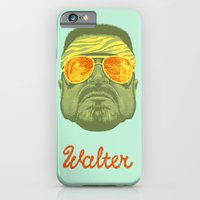 iPhone Cases featuring The Lebowski Series: Walter by Bubblegun