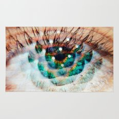 Green Eyes Hypnotize  Rug