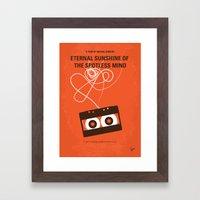 No384 My Eternal Sunshine of the Spotless Mind minimal movie poster Framed Art Print
