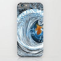 iPhone & iPod Case featuring Gold in Blue by ChiTreeSign