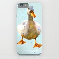 Duck, Christmas Humor, funny duck, funny animals, cute animal art iPhone 6 Slim Case