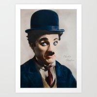 Modern Charlie Chaplin Art Print
