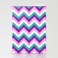 Chevron Jewel Stationery Cards
