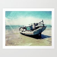 Waiting For The Tide To … Art Print