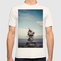 Reach For Your Dreams Mens Fitted Tee Natural SMALL