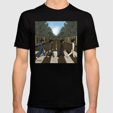 Abbey Road Black Mens Fitted Tee SMALL