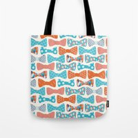 Tote Bag featuring Geometric Bows by Wild Notions