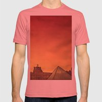 Louvre Mens Fitted Tee Pomegranate SMALL