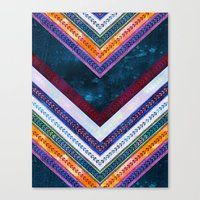 Adele Chevron {1A} Canvas Print