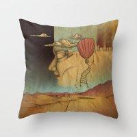 Overlands Throw Pillow