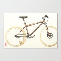 Coffee Wheels #06 Canvas Print
