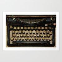 Keyboard Art Print