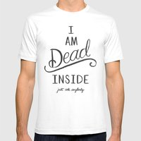I'm dead inside Mens Fitted Tee White SMALL