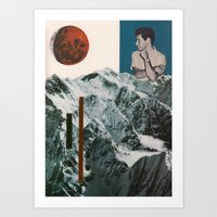 Mountain Observer Art Print