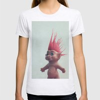 troll Womens Fitted Tee Ash Grey SMALL