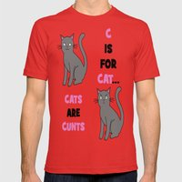 C is for Cat... Mens Fitted Tee Red SMALL