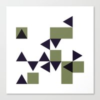 #186 Many – Geometry Daily Canvas Print