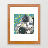 Trevor the Space Gorilla Framed Art Print