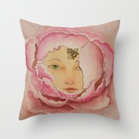 Bloom: Peony Throw Pillow