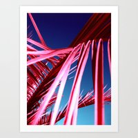 red palm leaf VII Art Print